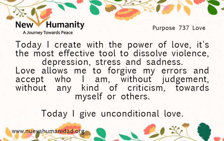 Nueva Humanidad - Purpose 737 Love