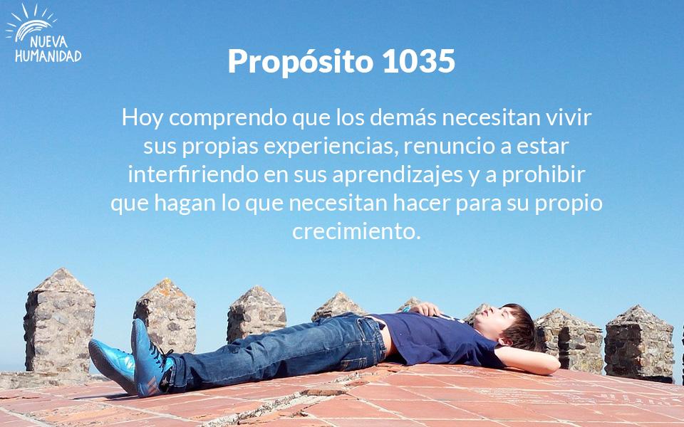 Propósito 1035  Aceptación