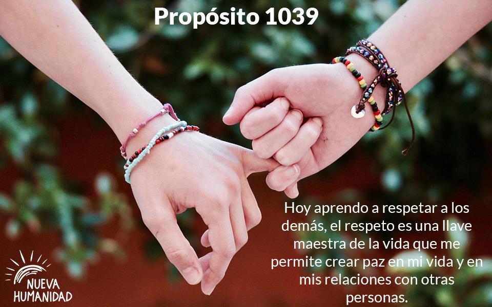 Propósito 1039  El Respeto