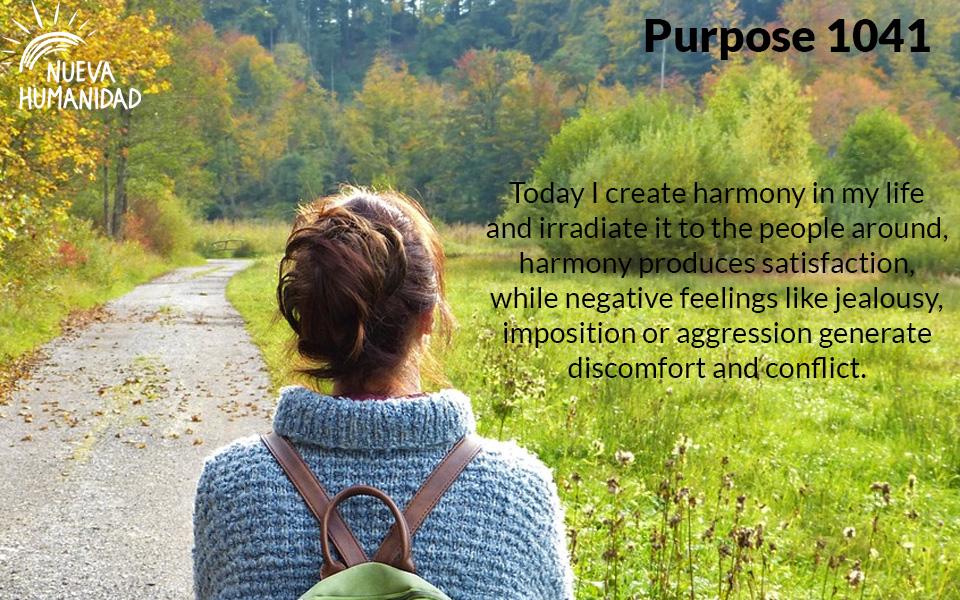 Purpose 1041 Harmony