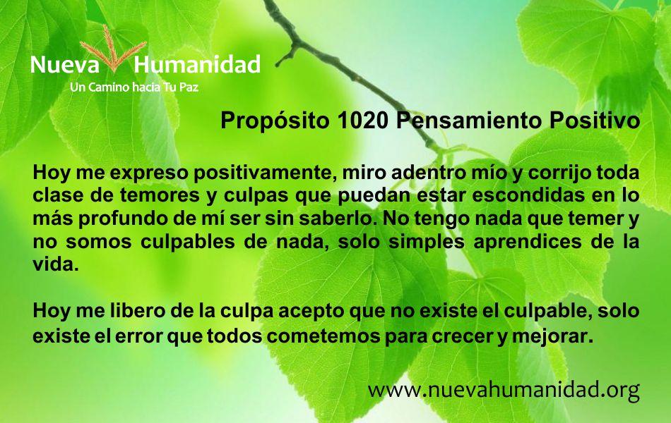 Nueva Humanidad Proposito 1020 Pensamiento Positivo-1