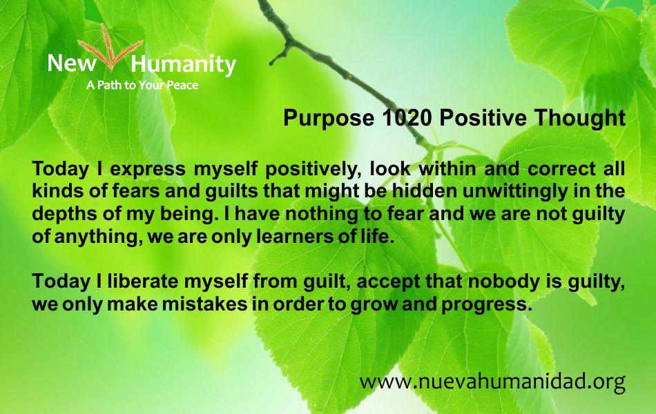 Nueva Humanidad Purpose 1020 Positive Thought