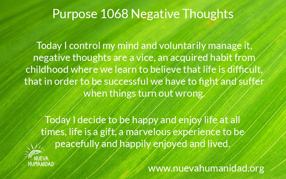 Purpose 1068 Negative Thoughts