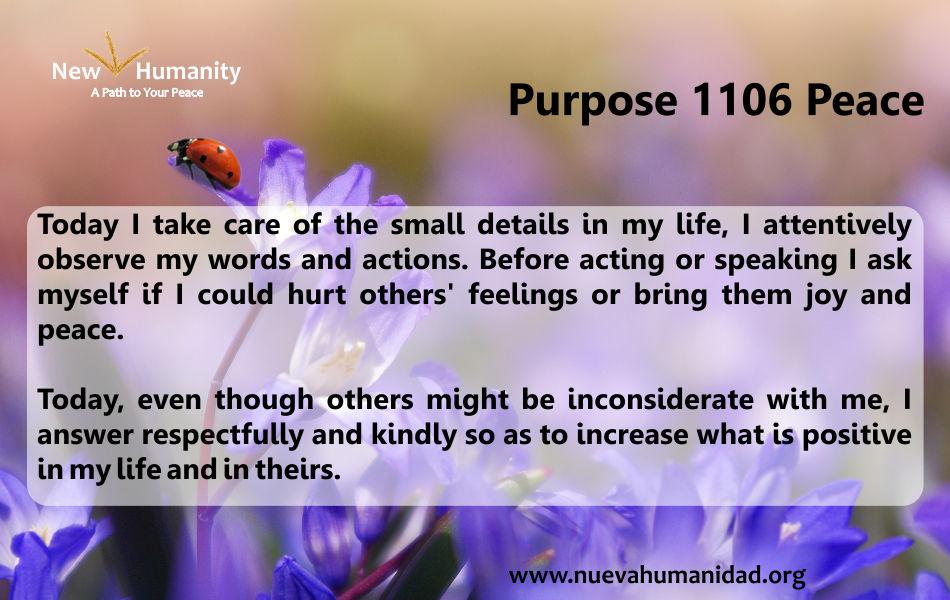 Purpose 1106 Peace