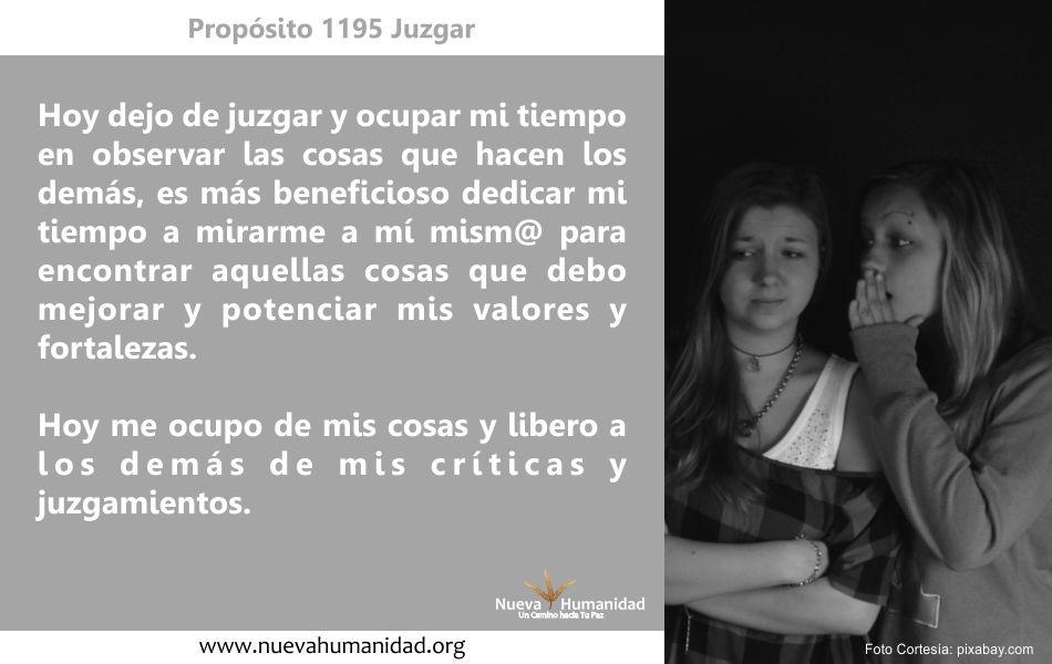 Propósito 1195 Juzgar