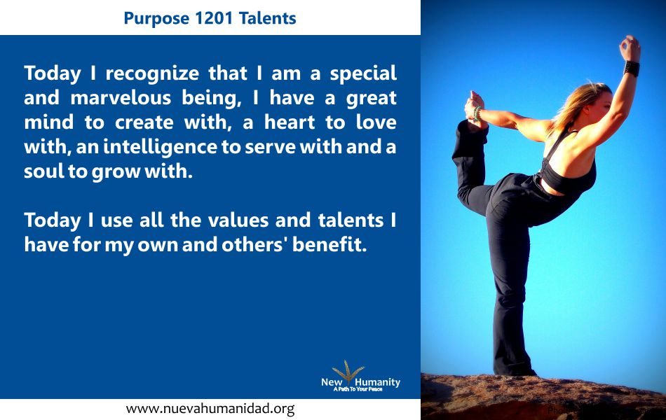 Purpose 1201 Talents