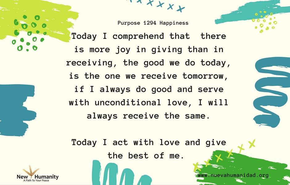 Purpose 1294 Happiness