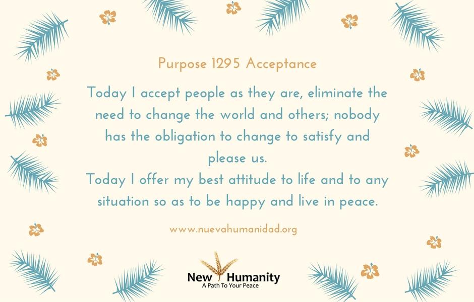 Purpose 1295 Acceptance