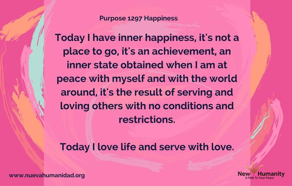 Purpose 1297 Happiness