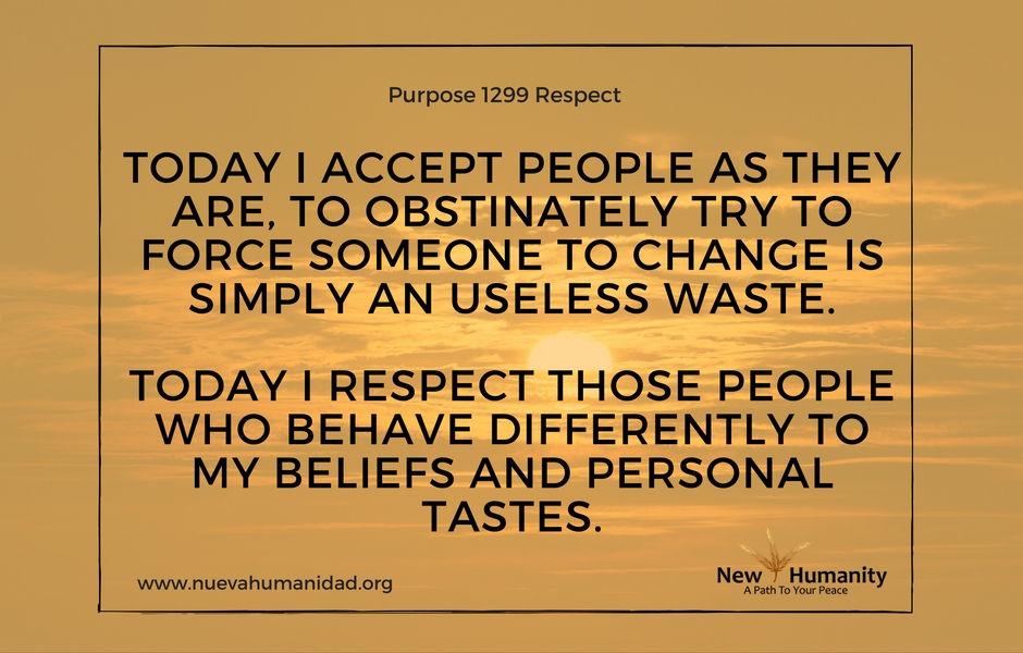 Purpose 1299 Respect