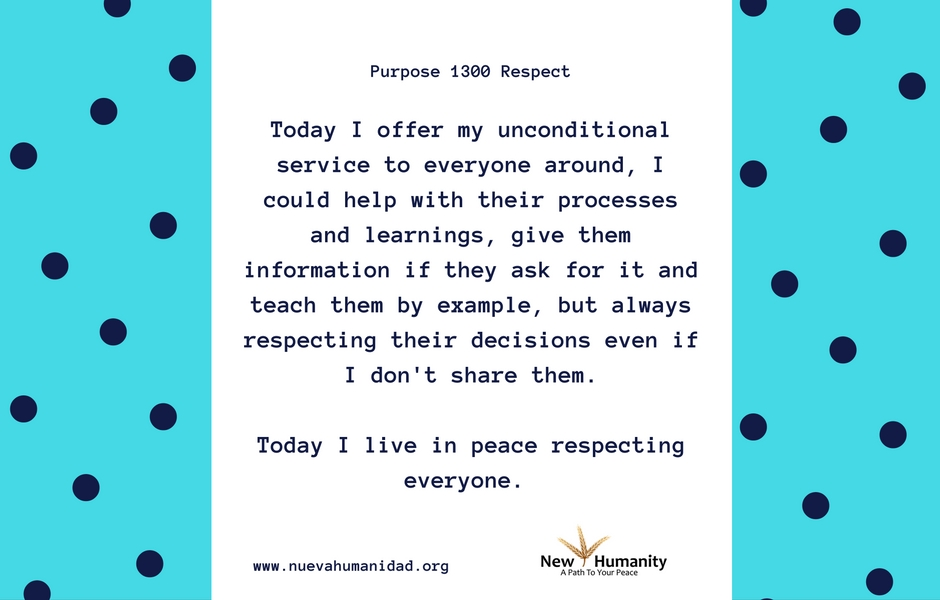 Purpose 1300 Respect