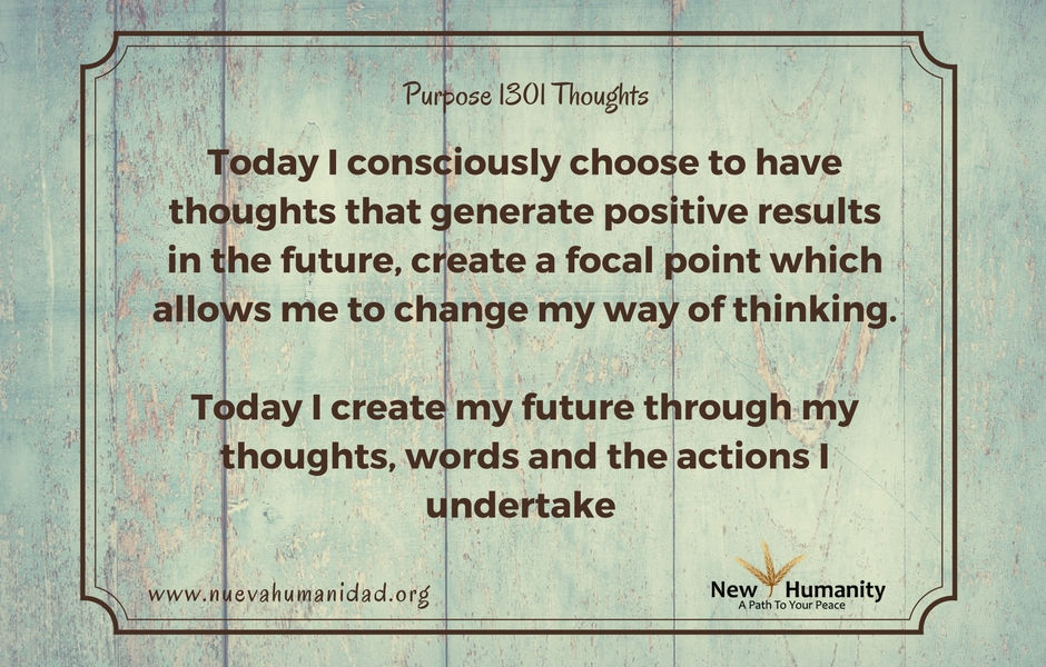 Purpose 1301 Thoughts