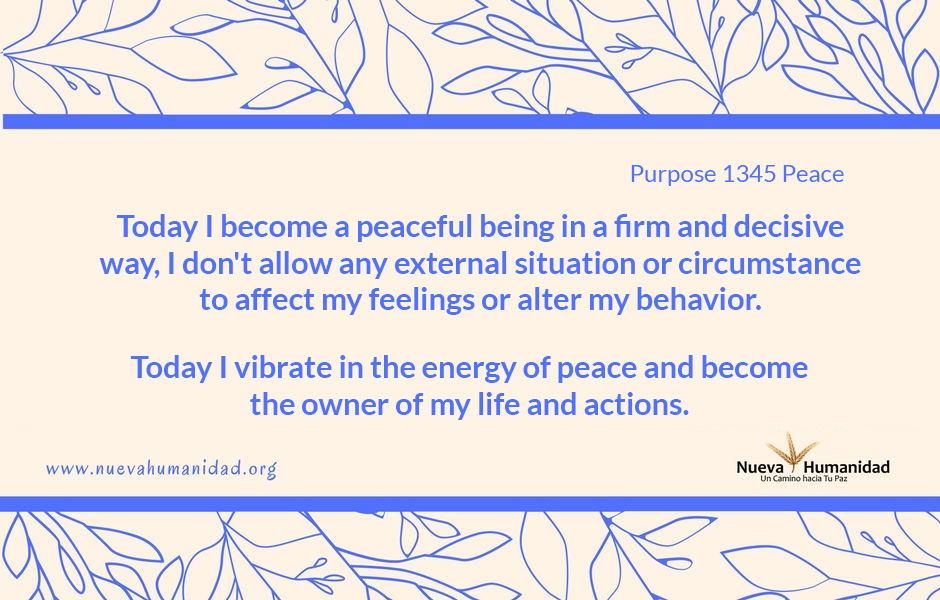 Purpose 1345 Peace
