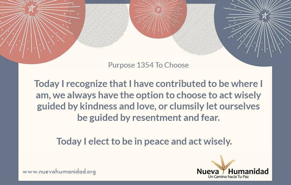 Purpose 1354 To Choose