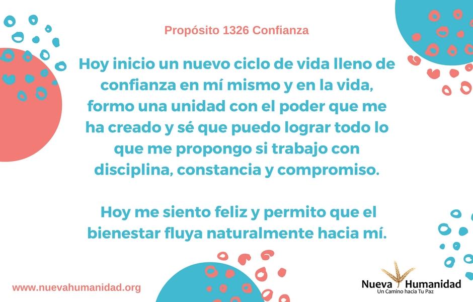 Propósito 1326 Confianza