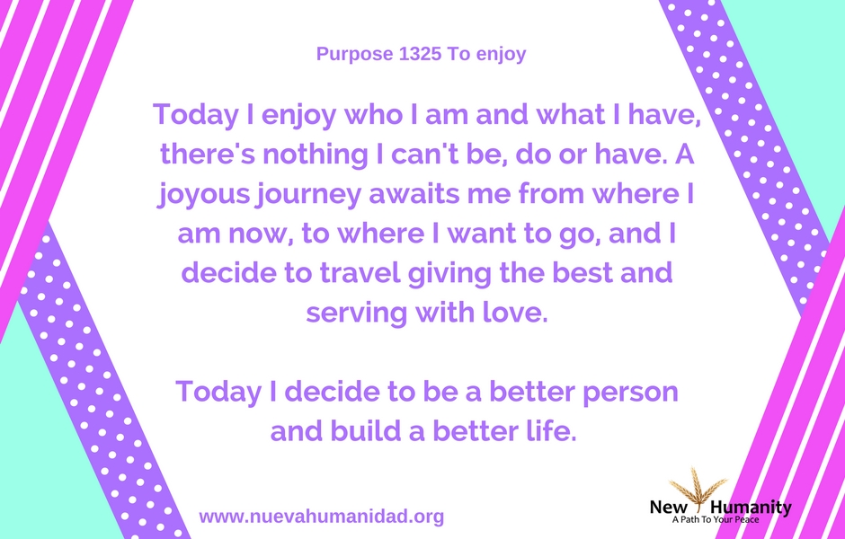 Purpose 1325 To Enjoy