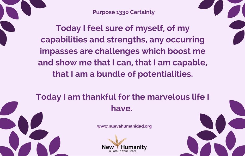 Purpose 1330 Certainty