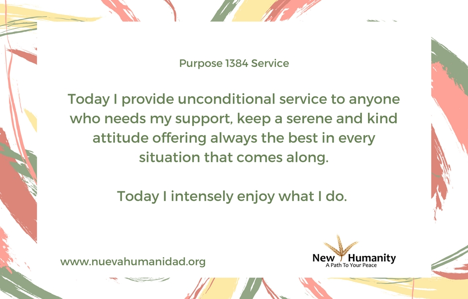 Nueva Humanidad Purpose 1384 Service