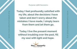 Nueva Humanidad Purpose 1388 Decisions