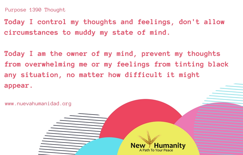 Nueva Humanidad Purpose 1390 Thought
