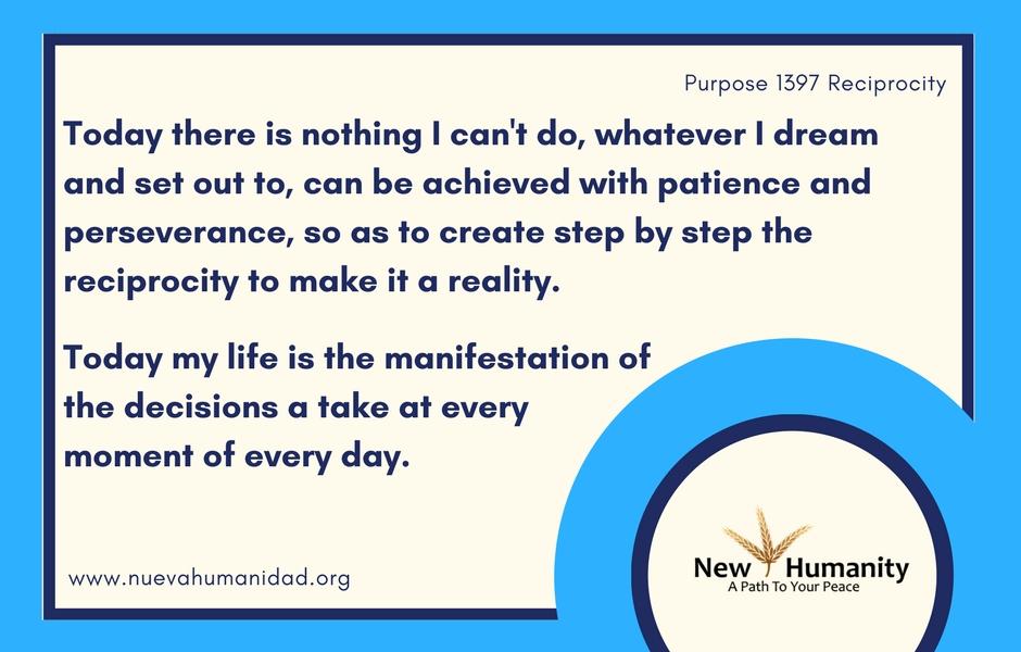 Nueva Humanidad Purpose 1397 Reciprocity