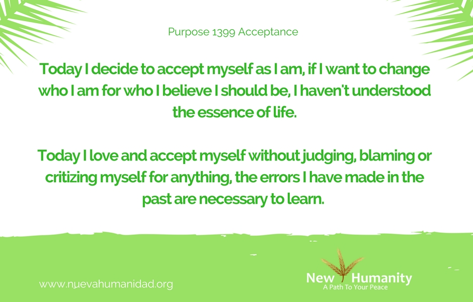 Nueva Humanidad Purpose 1399 Acceptance
