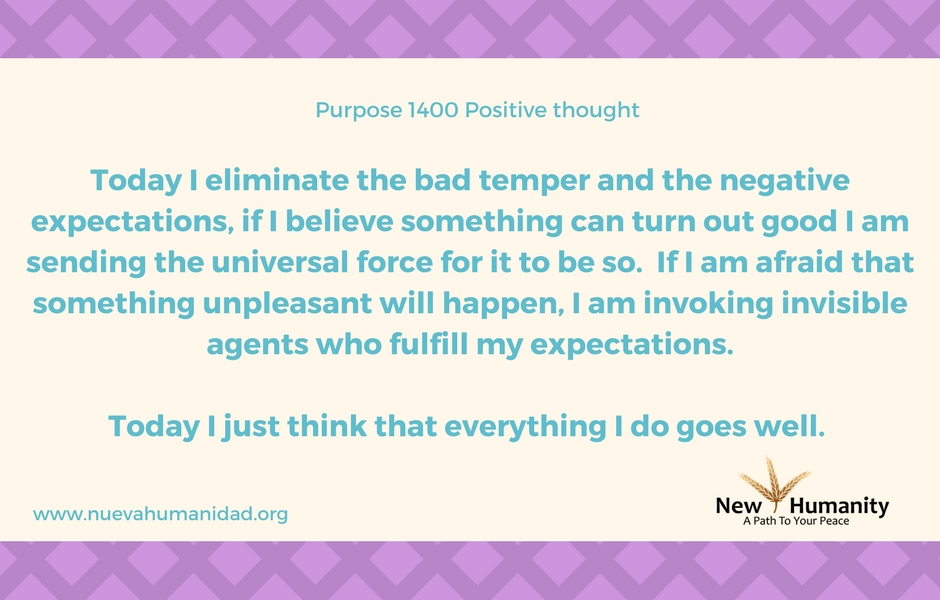 Nueva Humanidad Purpose 1400 Positive Thought
