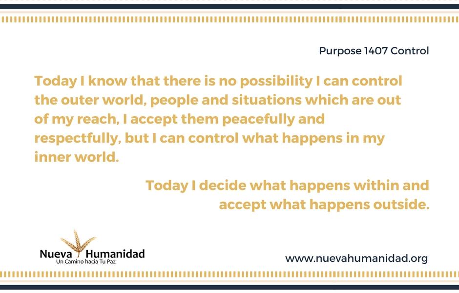 Nueva Humanidad Purpose 1407 Control