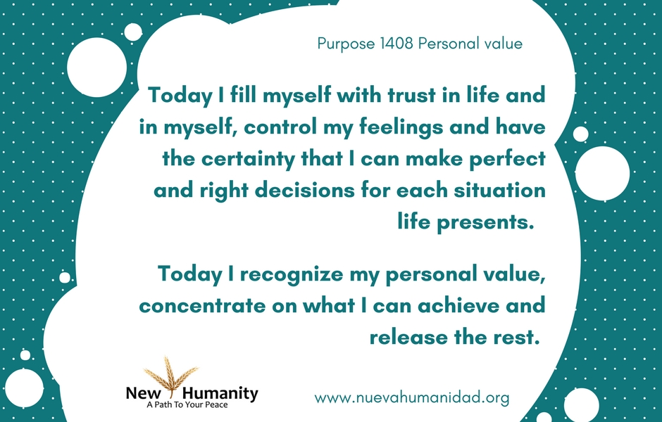 Nueva Humanidad Purpose 1408 Personal Value