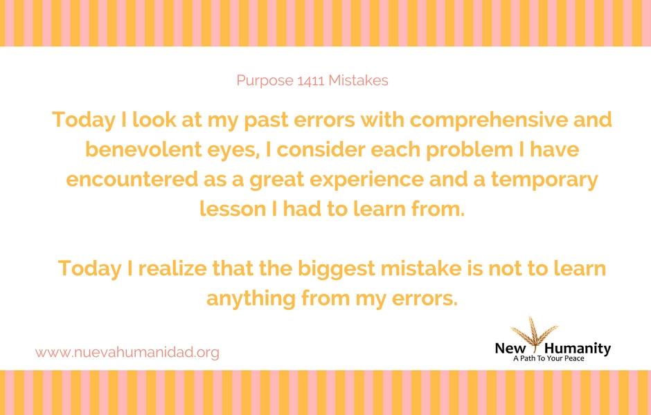 Nueva Humanidad Purpose 1411 Mistakes
