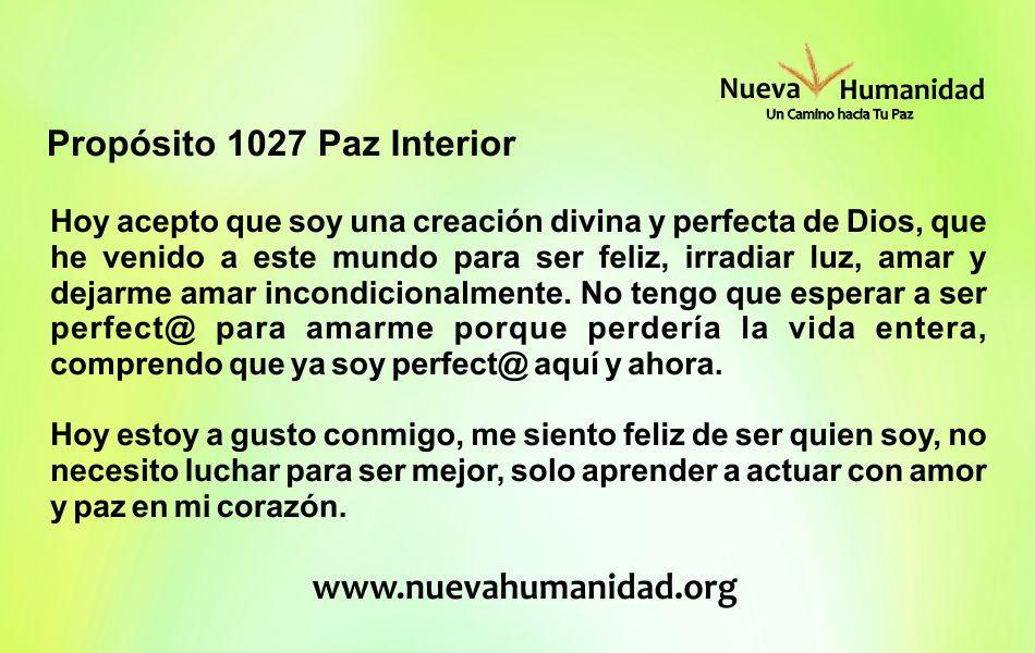 Propósito 1027 Paz interior