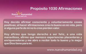 Propósito 1030 Afirmaciones