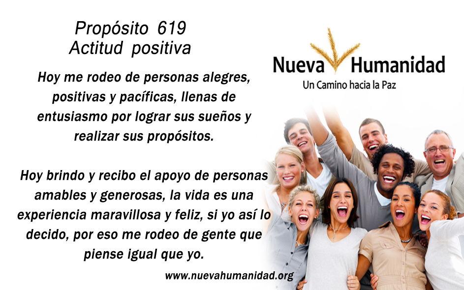 Propósito 619 Actitud positiva