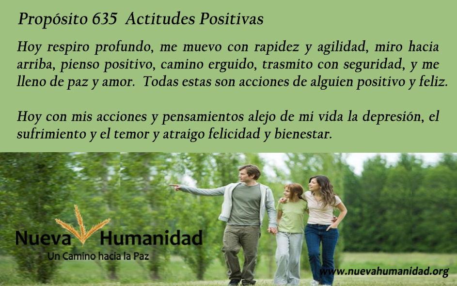 Propósito 635 Actitudes positivas