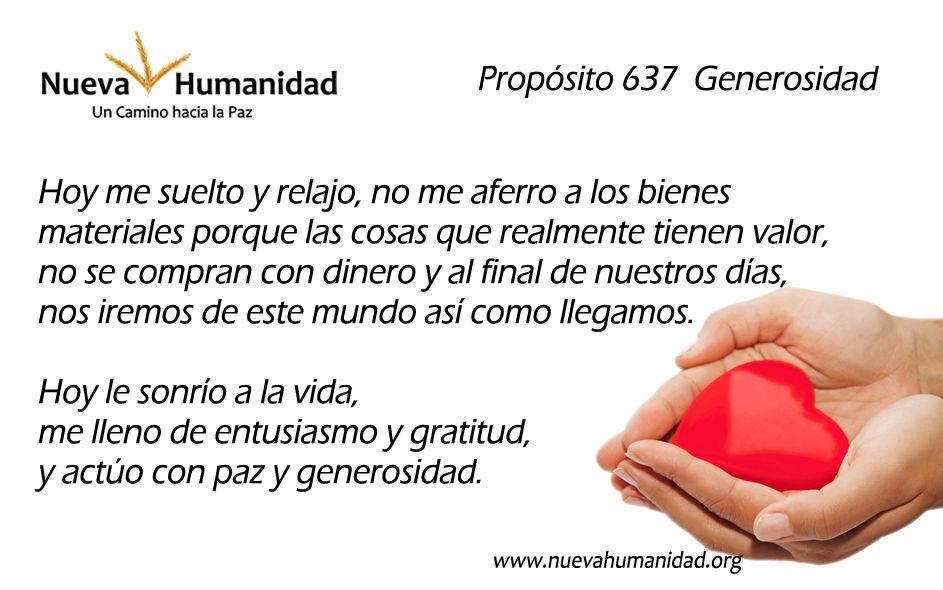 Propósito 637 Generosidad
