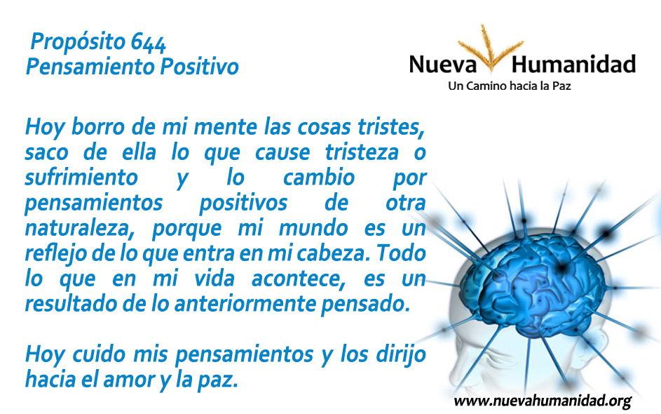 Propósito 644 Pensamiento positivo