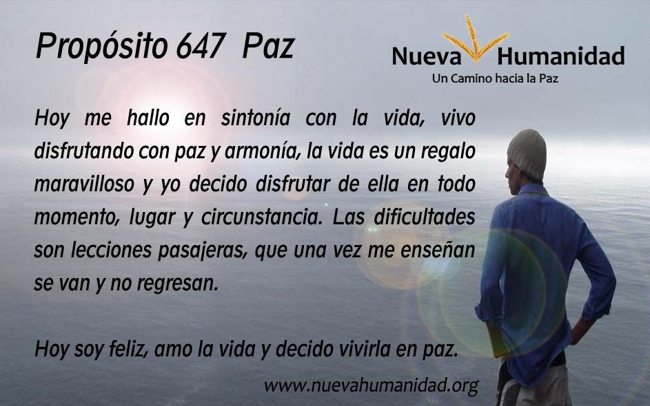 Propósito 647 Paz
