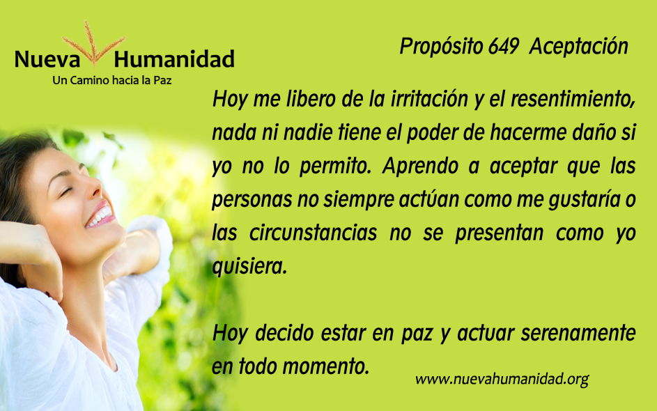Propósito 649 Aceptación