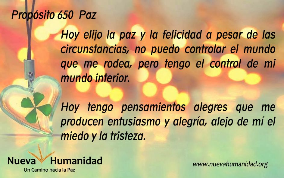 Propósito 650 Paz
