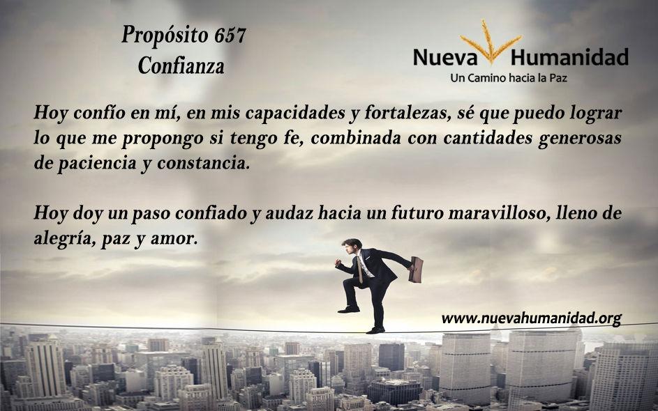 Propósito 657 Confianza
