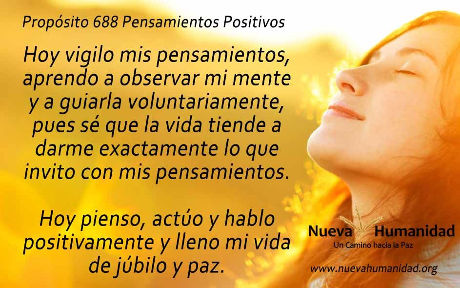 Propósito 688 Pensamientos positivos