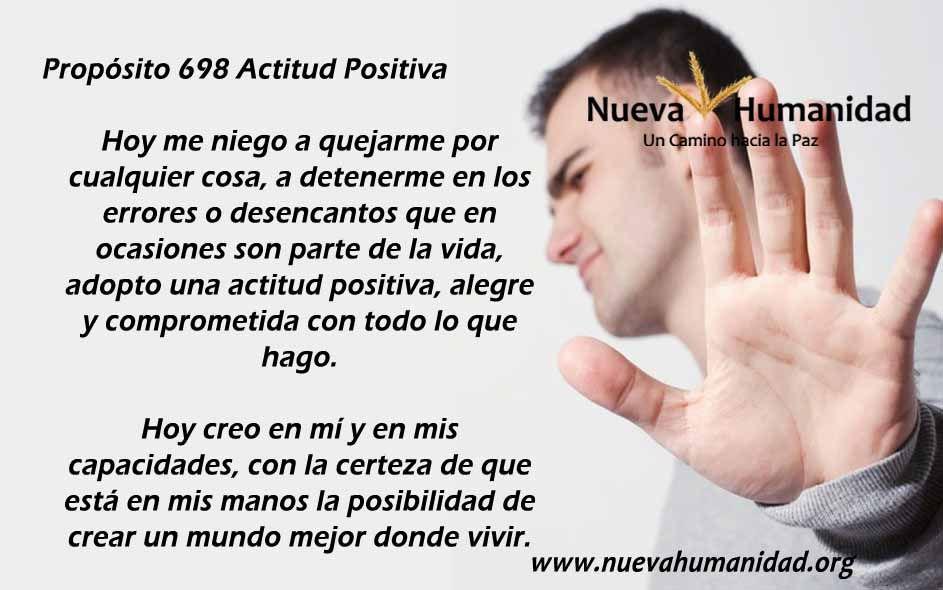 Propósito 698 Actitud positiva