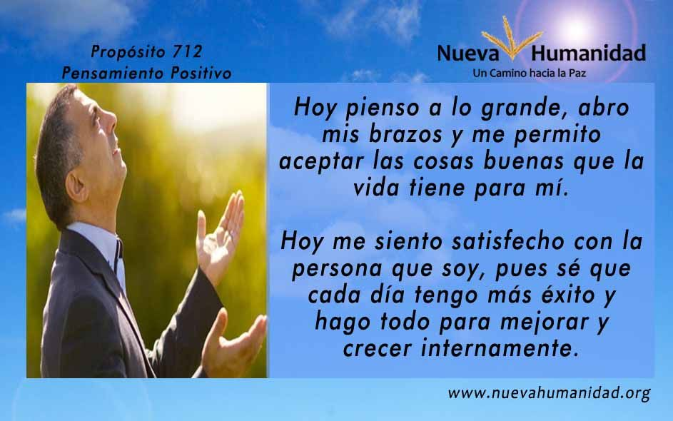 Propósito 712 Pensamiento positivo