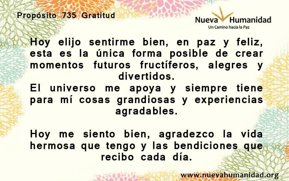 Propósito 735 Gratitud