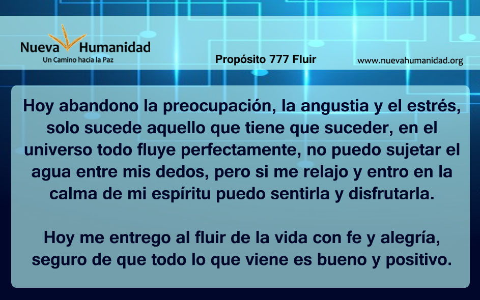 Propósito 777 Fluir