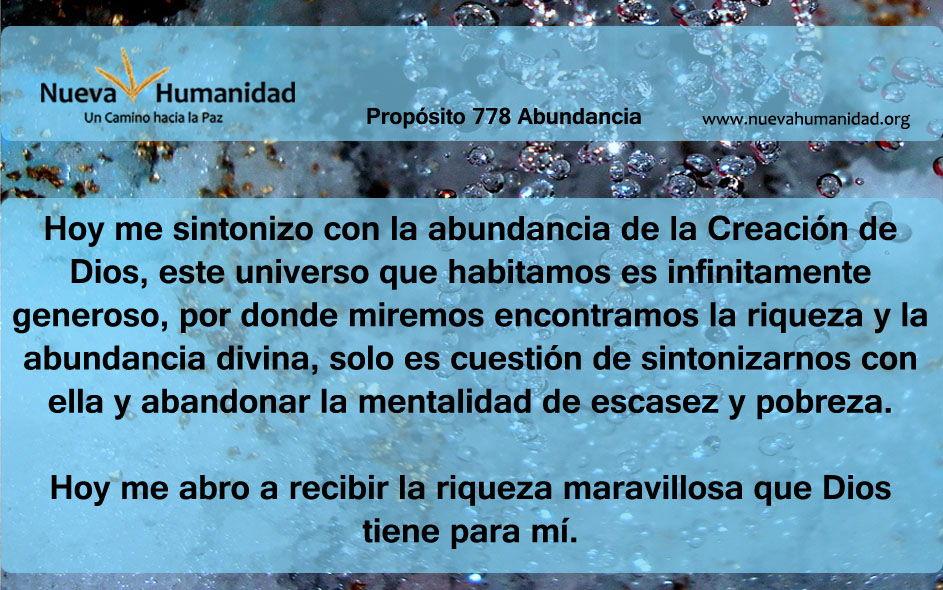 Propósito 778 Abundancia
