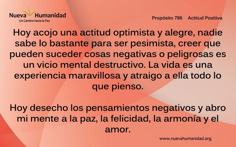 Propósito 786 Actitud positiva
