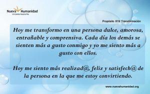 Propósito 819 Transformación