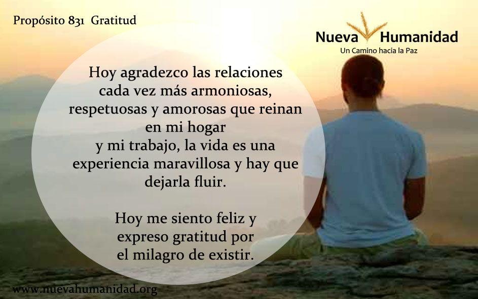 Propósito 831 Gratitud