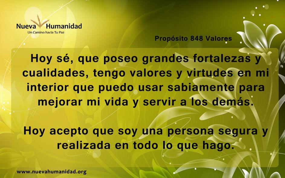 Propósito 848 Valores